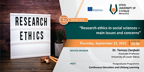 Online talk: Research ethics in social sciences – main issues and concerns tickets