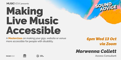 SOUND ADVICE: Making Live Music Accessible Masterclass tickets