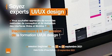 Formation  UI/UX Design billets