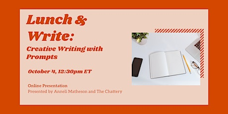Lunch & Write: Creative Writing with Prompts - ONLINE CLASS tickets