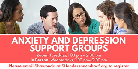 Weekly Anxiety and Depression In-Person Support Group tickets