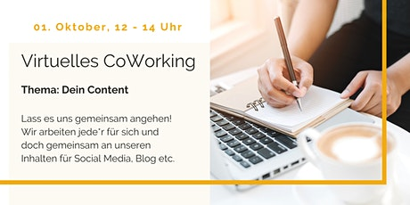 Virtuelles CoWorking - Dein Content - der Ersatztermin Tickets