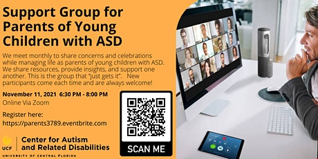Support Group for Parents of Young Children with ASD #3789 tickets