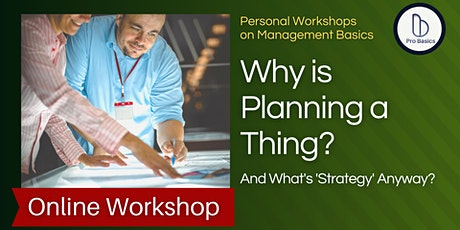 Why is Planning a Thing (and What's Strategy Anyway?) tickets
