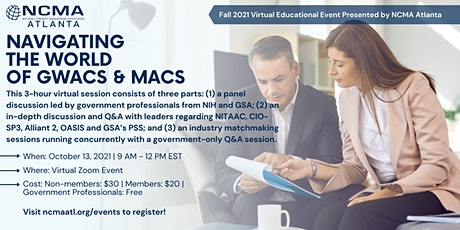 Navigating the World of GWACs and MACs (Industry - Nonmembers) tickets