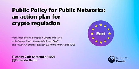 Public Policy for Public Networks: an action plan for crypto regulation Tickets