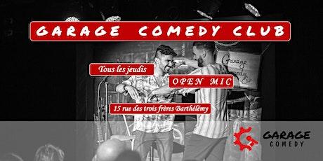 Garage Comedy Club - L'open mic billets