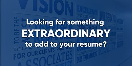 Looking for something EXTRAORDINARY to add to your resume? tickets