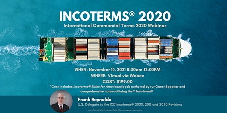 INCOTERMS® 2020: International Commercial Terms 2020 Webinar tickets