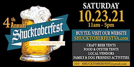 4th Annual Shucktoberfest Beer & Oyster Festival tickets