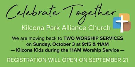 Sunday Live at Kilcona:  Worship Services @  9:15 OR 11AM! tickets