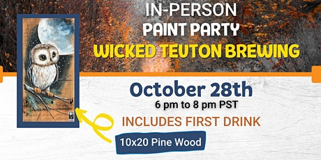 Woodsy Owl Paint Night @ Wicked Teuton Brewing Co tickets