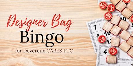 Designer Bag Bingo for CARES tickets