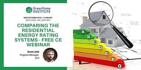 Comparing The Residential Energy Rating Systems - Free CE Webinar tickets