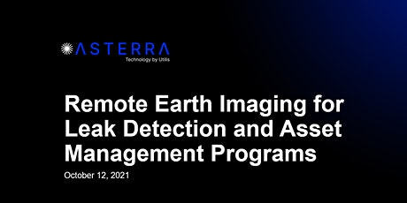 Remote Earth Imaging for Leak Detection and Asset Management Programs tickets