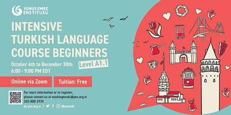 Intensive Turkish Language Course Beginners Level 1 Part 1 A1.1[Fall 2021] tickets