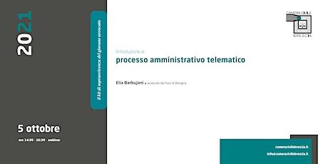 Introduzione al Processo Amministrativo Telematico biglietti
