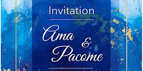 Invitation au mariage de Ama et Pacom billets