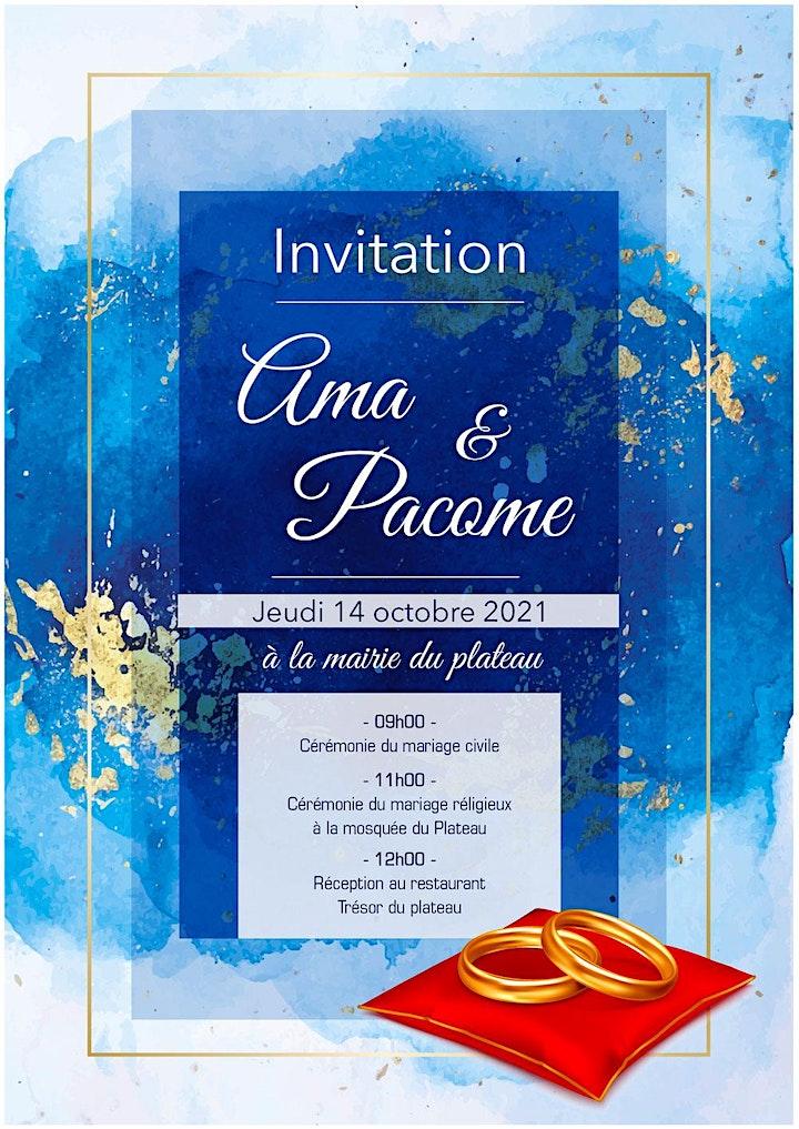 Image pour Invitation au mariage de Ama et Pacom
