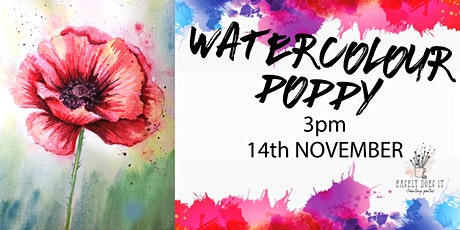 Easely Does It - Watercolour Poppy- with Toni + 14 day recording tickets