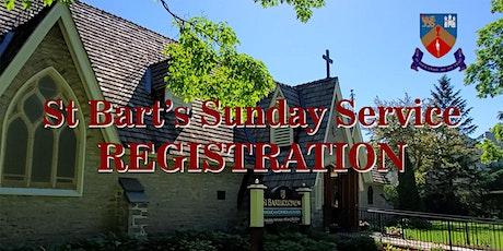 Registration for St. Bart's Sunday Service - September 26, 2021 tickets