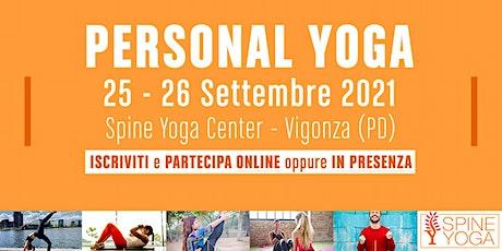PERSONAL YOGA Seminario di Formazione (in presenza a Spine Yoga Center) biglietti