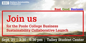 Poole College Business Sustainability Collaborative Lau...