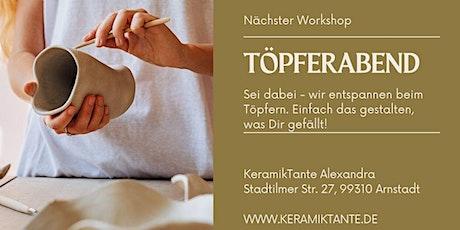 Töpferkurs in 99310 Arnstadt (Nähe Erfurt) Tickets