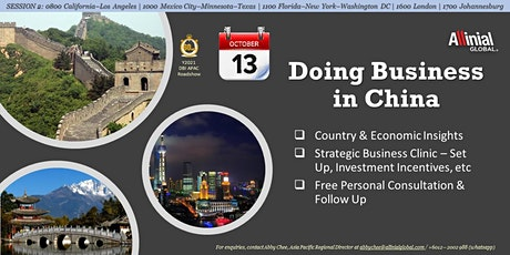 Doing Business in China (Session 2) tickets