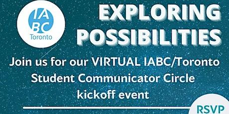 IABC Toronto Student Communicator Circle kickoff event tickets