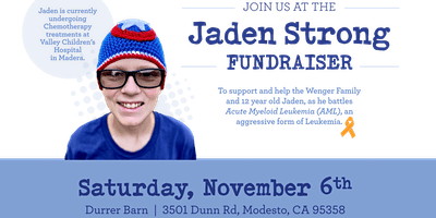 Jaden Strong Fundraiser  – Dinner or Drive Thru