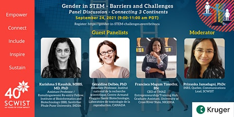 Gender in STEM - Barriers and Challenges  (Global Panel Discussion) tickets