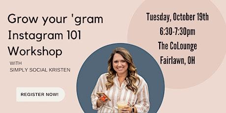 Instagram 101 workshop with Simply Social Kristen tickets