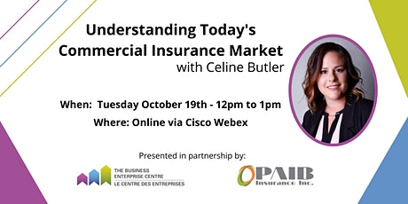 Understanding Today's Commercial Insurance Market with Celine Butler tickets