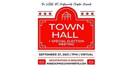 NSBE DC Virtual Town Hall & Special Election Meeting September 2021 tickets