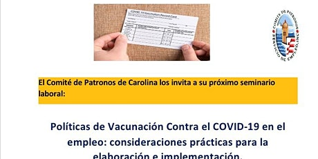 Políticas de Vacunación Contra el COVID-19 en el empleo. entradas