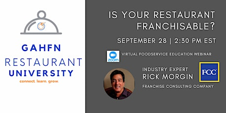 Is your Restaurant Franchisable? tickets