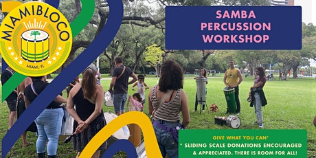 Miamibloco  open Percussion Workshop - North Beach Oceanside Park tickets