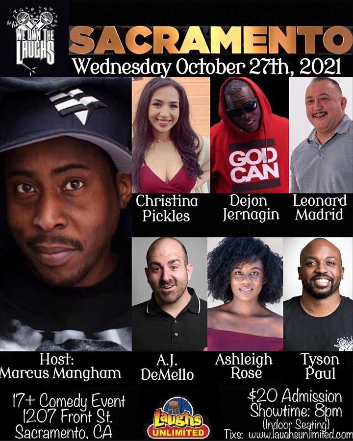 We Own the Laughs hosted by Marcus Mangham image