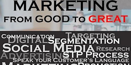 Marketing - Good To Great Masterclass biglietti