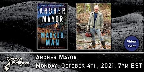 Author Archer Mayor, Marked Man tickets