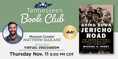 Tennessee's Book Club: Going Down Jericho Road by Michael Honey tickets