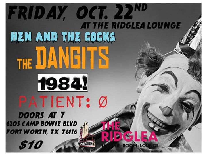 Hen & The Cocks, The Dangits, 1984!, Patient: O image