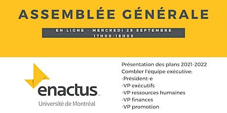 Assemblée générale - Enactus UdeM tickets