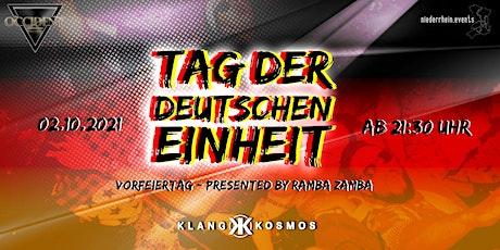 Tag der deutschen Einheit - Vorfeiertag by RAMBA ZAMBA Tickets