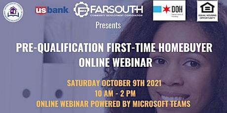 Pre-Qualification First-Time Homebuyer Online Webinar tickets