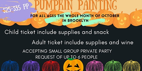 PUMPKIN PAINTING in Brooklyn - ADULT SESSION tickets