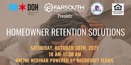 Far South CDC Homeowner Retention Solutions Webinar tickets