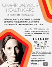 Champion Your Healthcare with Rose Rohloff tickets