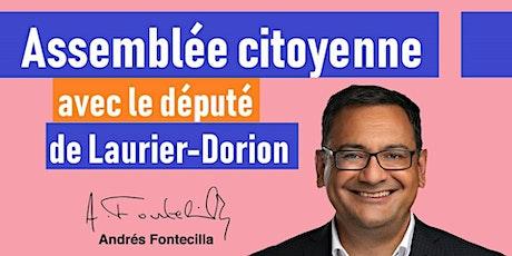 Assemblée virtuelle avec Andrés Fontecilla - Député de Laurier-Dorion tickets